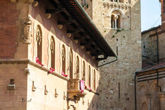 Bishop`s palace in Massa Marittima, Italy Royalty Free Stock Images