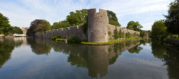 Bishop's Palace and Moat in Wells Royalty Free Stock Photo