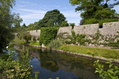 Bishop's Palace Moat in Wells Stock Images
