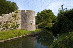 Bishop's Palace Moat in Wells Stock Photo