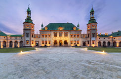 Bishop`s Palace after sunset in Kielce, Poland Royalty Free Stock Photo
