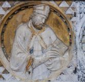 Bishop sculpture in the Church of Sant Agostino in San Gimignano Stock Image