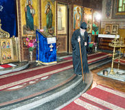 Bishop of Sliven in the Church of the Transfiguration in the center of Pomorie in Bulgaria. Pomorie - famous resort town in Bulgaria. In summer it is a popular Royalty Free Stock Image