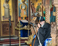 Bishop of Sliven at the Festival of Orthodox Music in Pomorie, Bulgaria. Pomorie - famous resort town in Bulgaria. In summer it is a popular tourist destination Stock Photography