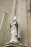 Bishop Statue. At the entrance in salzburg cathedral royalty free stock photo