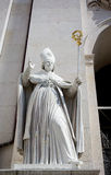Bishop statue. The bishop statue in front of  the Salzburg Cathedral. Austria Stock Photo
