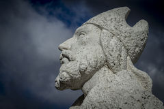 Bishop statue.Cerro de los Angeles is located in the municipalit Royalty Free Stock Photography