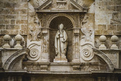 Bishop, tipical architecture of the Spanish city of Valencia Stock Image