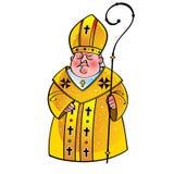 bishoppopepräst stock illustrationer