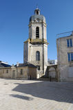 Bishopric and the church St-Jean-Du-Perot in La Rochelle, France Stock Image