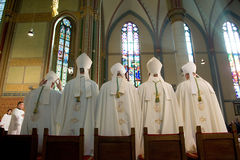 Bishops during mass Royalty Free Stock Photos