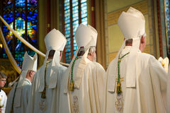 Bishops during mass Royalty Free Stock Photography