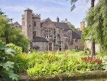 Bishops Palace Gardens Wells Somerset UK Stock Photos