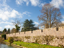 Bishops Palace Moat Well Somerset Stock Images