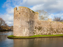Bishops Palace Moat Well Somerset Stock Image