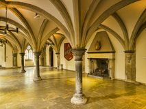 Bishops Palace Wells Interior Royalty Free Stock Image