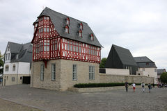Bishops residence Limburg. CIRCA AUGUST 2014 - LIMBURG: The (controversially expensive) bishops residence in Limburg, Germany Stock Photo