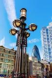 Взгляд улицы на Bishopsgate в Лондоне, Великобритании Стоковая Фотография RF