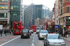 Bishopsgate gata London Royaltyfri Bild