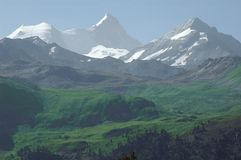 Bishorn and Weisshorn Royalty Free Stock Photos