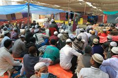 Bishwa Ijtema in Tongi, Bangladesh stock afbeeldingen