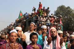 Bishwa Ijtema at Tongi, Bangladesh. Royalty Free Stock Image