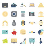 Bisiness and finance flat icons set. Graphic design Stock Images