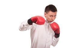 Bisinessman jest ubranym bokserskie rękawiczki Obraz Stock