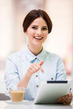 Bisinesswoman with tablet Stock Photo