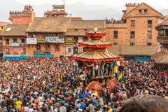 Bisket Jatra celebrations in Bhaktapur, Nepal