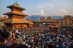 Bisket Jatra- Nepalski nowy rok fotografia royalty free