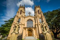 Biskops- domkyrka för Treenighet, i Columbia, South Carolina Arkivbild