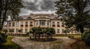 Biskopslott i Lomza, Polen Arkivfoto
