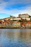 Biskopslott och gammal town av Porto arkivfoto