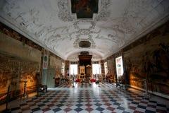 Biskopsstolrum av den Rosenborg slotten Arkivfoton
