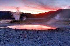 Biskuit-Bassin-Frühling in Yellowstone stockbilder