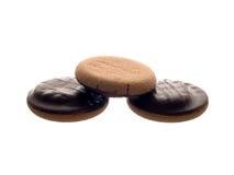 Biskuit in der Schokolade lizenzfreies stockbild