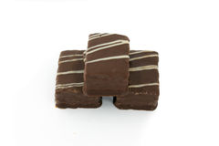 Biskuit in der Schokolade lizenzfreies stockfoto