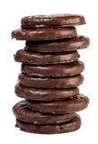 Biskuit in der Schokolade lizenzfreie stockfotografie
