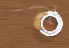 Biskuit und Kaffee Lizenzfreie Stockfotografie