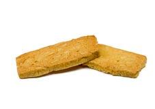 Biskuite getrennt auf weißem Hintergrund Stockfoto