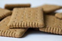 Biskuite getrennt worden auf Weiß Lizenzfreie Stockfotos