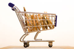 Biskuite im Einkaufswagen Stockfoto