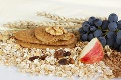 Biskuite und gesundes Essen Lizenzfreies Stockfoto