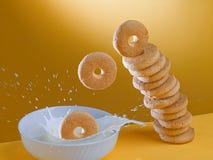 Biskuite und Milch zum Frühstück lizenzfreies stockfoto