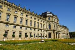 Biskup siedziba w WÃ ¼ rzburg, Niemcy Fotografia Stock