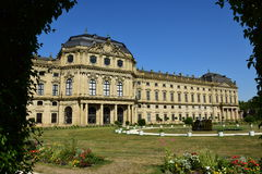 Biskup siedziba w WÃ ¼ rzburg, Niemcy Obrazy Royalty Free