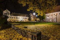 Biskupa pałac w Krakow przy nocą Fotografia Royalty Free