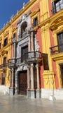 Biskupi pałac Dziejowy Malaga Zdjęcia Royalty Free