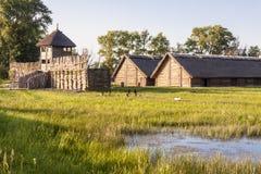 Biskupin archeologisch museum - Polen. royalty-vrije stock foto